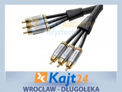 KABEL VIDEO 3xRCA WT-3xRCA WT 3M RGB 25837