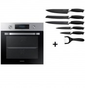 SAMSUNG DUAL COOK NV66M3571BS + Royalty Line RL-BLK5-W